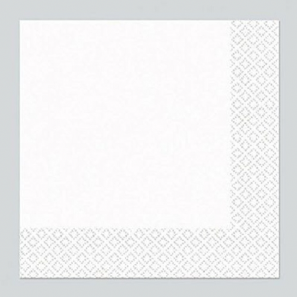 Frosty White Luncheon Napkins 33cm (20)